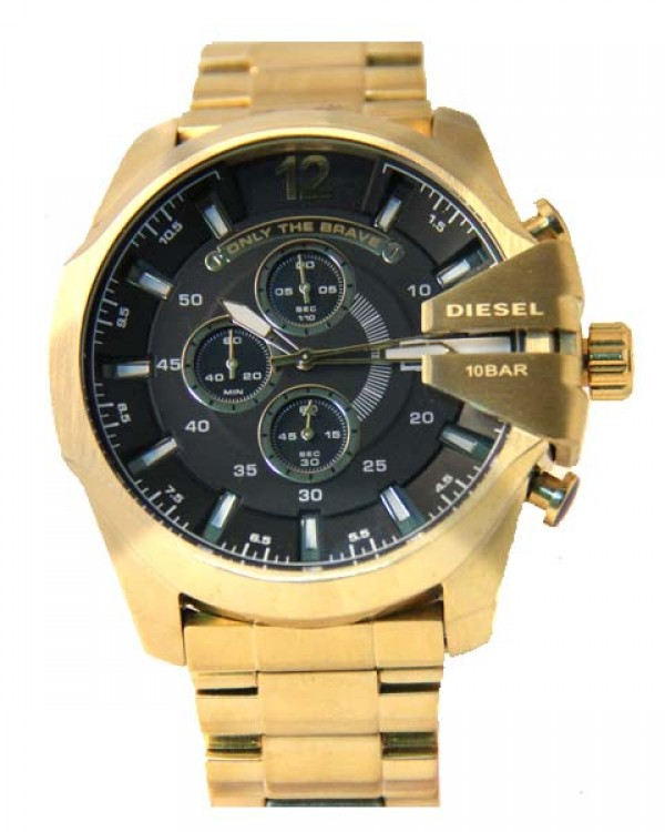 Réplicas de Relógio Diesel Only The Brave Gold Black