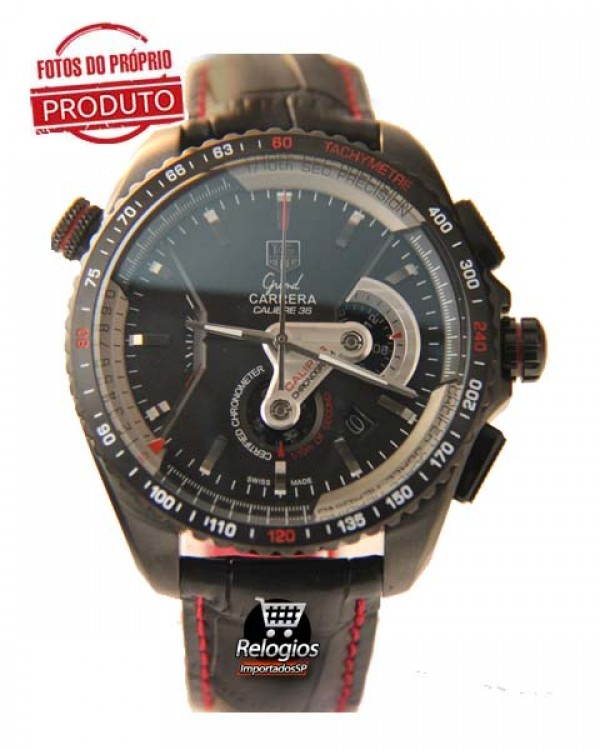 Relógio Tag Heuer Grand Carrera 36Rs Limited Edition Red Réplica