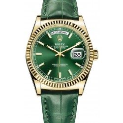 Réplicas de Relógio Rolex Day Date Gold Green Edition