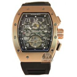 Réplica de Relógio Richard Mille Felipe Massa Edition Rose Black