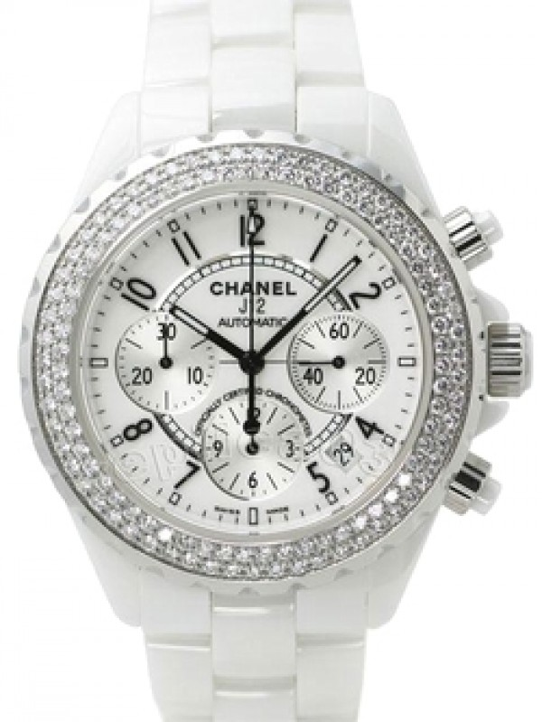 Chanel J12 White Strass Chrono 05