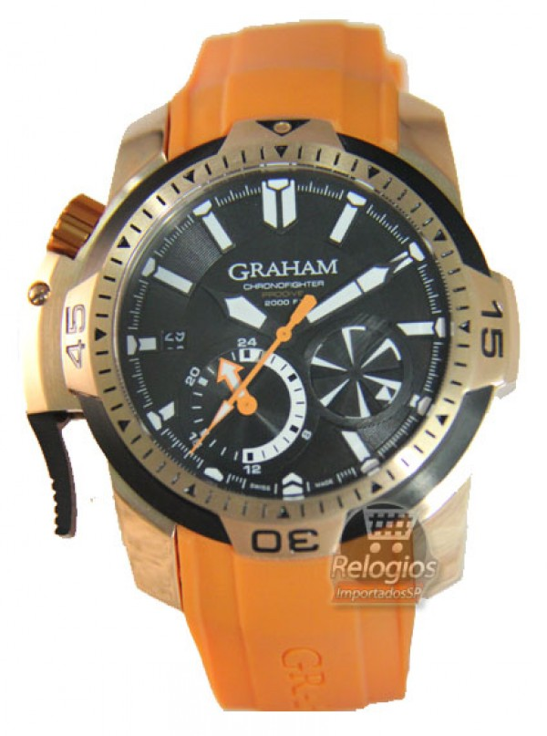 Réplica de Relógio Graham Chronofigther Orange