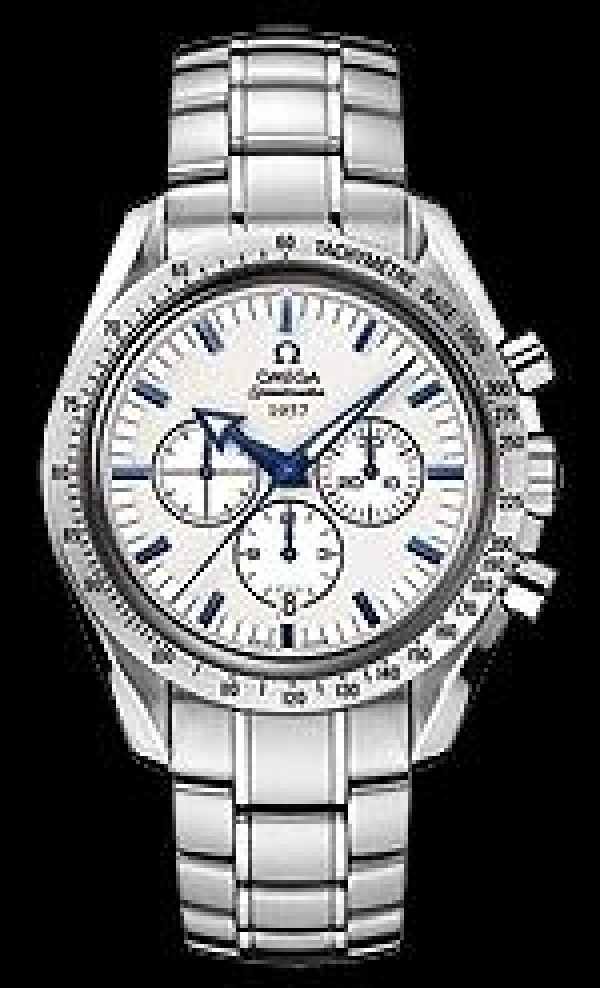 Réplica de Relógio Omega Speedmaster Broad Arrow White Blue 309