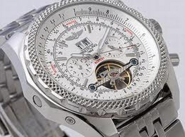 d8d3ade5013 Relógio Breitling Bentley Motors White Turbillon Réplica ...